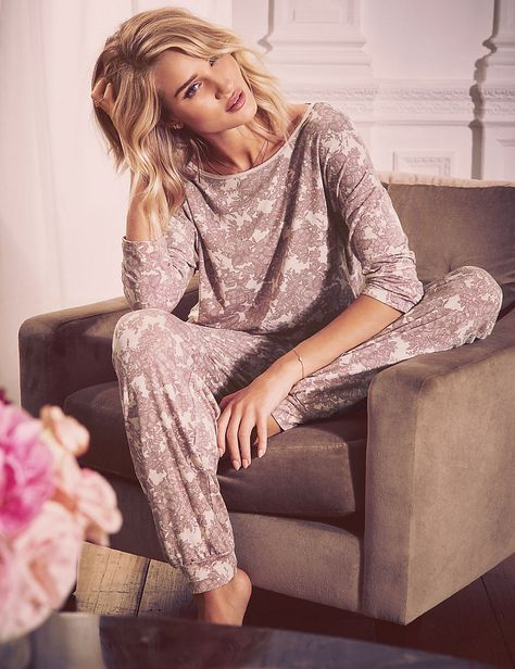 Buy the Floral Cuffed Hem Pyjama Bottoms from Marks and Spencer's range.
