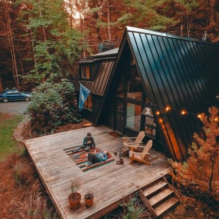 60 Small Mountain Cabin Plans With Loft Awesome Pin By Laura Manuge On Cozy Home Tiny Log Cabins Tiny House Design Cabin Plans With Loft