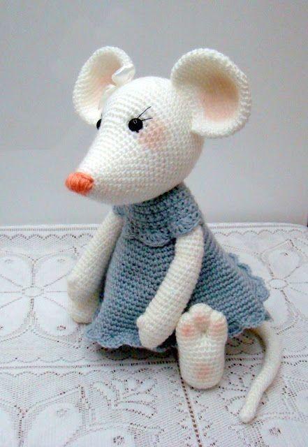 Ratinha de amigurumi croche para você compartilhar com as amigas ... | 640x441