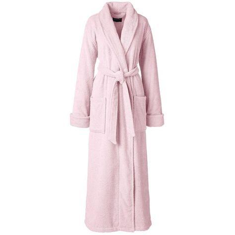 Lands End Womens Petite Sherpa Fleece Long Robe