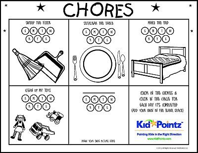 Progress Charts for Kids Kid Pointz kinders jobs\/rewards - progress chart for kids