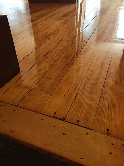 Douglas Fir Floors Refinished Natural