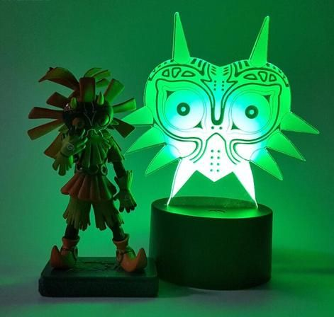 The Legend Of Zelda Skull Kid Majoras Mask Color Changing 3d Illusion Acrylic Lamp Anime Lamps Anime Inspired 3d Illusions Majoras Mask