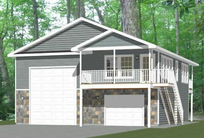 Details About 36x40 Apartment With 1 Car 1 Rv Garage Pdf Floor Plan 902 Sqft Model 1i With Images Garage House Plans Garage Apartment Plans Building Plans House