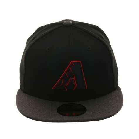 online store 8f376 e9ded New Era 59Fifty Arizona Diamondbacks Fitted Hat - 2T Black, Graphite  Heather, Red,   39.99
