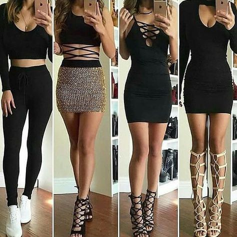 Different styles but in black. #fashion #trendy #outfit #black #shoes #casual…