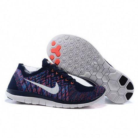 afd2823f1921 Women Nike Free 4.0 Flyknit WomensShoes Navy Orange   KSwissWomenstennisShoesUk
