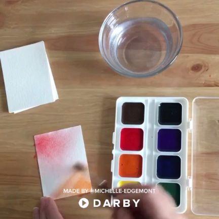 How to Make Easy Watercolor Escort Cards #darbysmart #diy #diyprojects #diyideas #diycrafts #easydiy #artsandcrafts #diywedding #partyideas