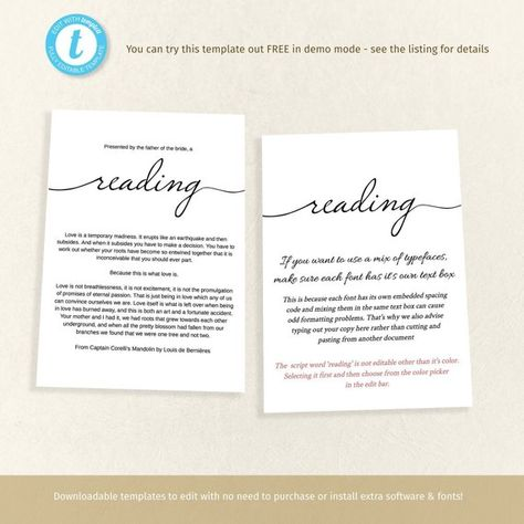 Printable Funeral Memory Card Template Reading Insert Or Prayer Keepsake Memorial Program Easy To Memorial Cards For Funeral Memorial Program Card Template