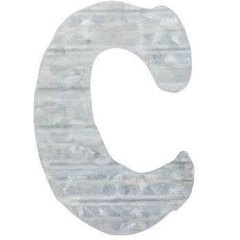 Corrugated Metal Letter Wall Decor C Metal Wall Letters