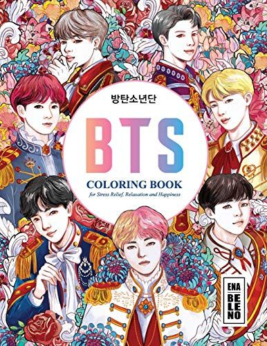 Download Pdf Bts Coloring Book For Stress Relief Happiness And Relaxation For Army And Kpop Lovers Love Yo Coloring Books Books Stress Relief Coloring Books