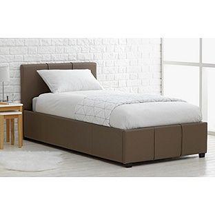 Fabulous Buy Hygena Hendry Single Ottoman Bed Frame Latte At Argos Inzonedesignstudio Interior Chair Design Inzonedesignstudiocom
