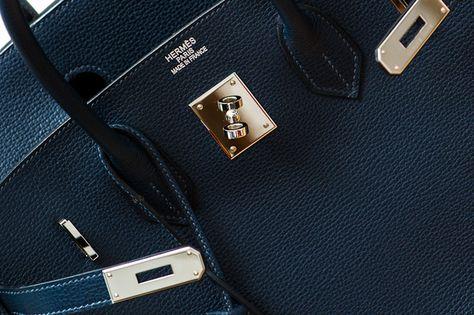 Enter to win! Vintage 35cm Navy Hermes Birkin Bag