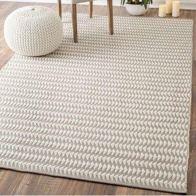 Mercury Row Mathews Geometric Hand Tufted Ivory Indoor Outdoor Area Rug Contemporary Rugs Home Decor Area Rugs