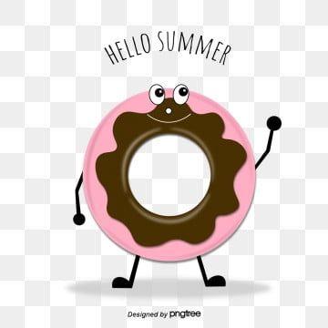 لطيف الشوكولاته دونات كرتون دونات نمط الكرتون القليل من الناس Png والمتجهات للتحميل مجانا Summer Design Hello Summer Chocolate Donuts