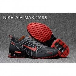 Mens Nike Air Max 2018.5 Running Shoes Gray Red Black