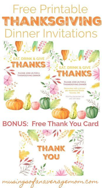 photograph about Free Printable Thanksgiving Invitations referred to as Thanksgiving Invites The Best Pinterest Bash