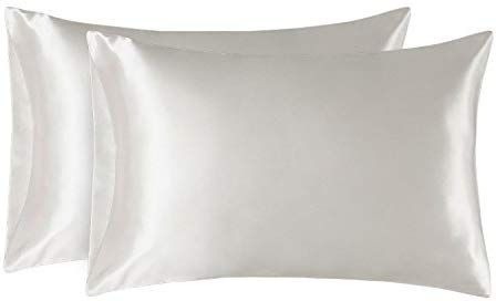 Bedsure Two Pack Satin Pillowcases Set