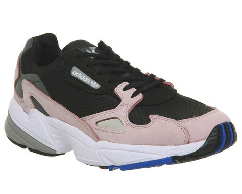 Womens Adidas Falcon Trainers Core Black Light Pink Trainers ...