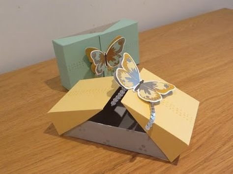 Double Flap Large Gift Box with Watercolor Wings, Video Tutorial, Stampin' Up UK