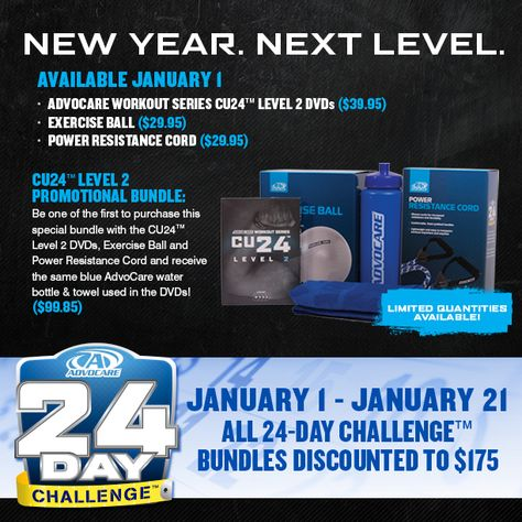 New Year. Next LEVEL! Available NOW! https://www.advocare.com/01042679/Store/CatalogView.aspx?id=B