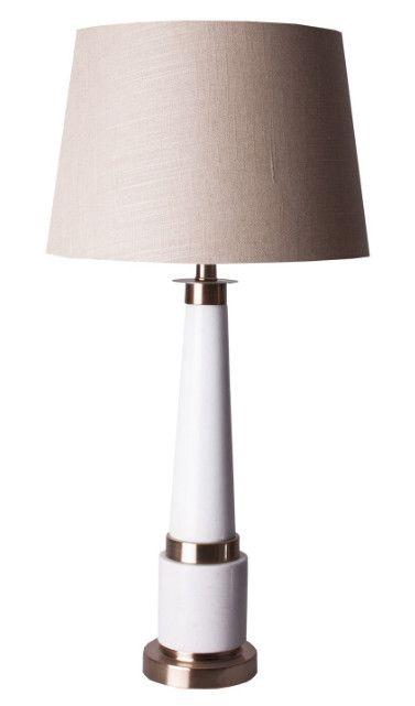 Lampe De Table Tissu Beige Et Marbre Blanc Mojo Lestendances Fr En 2020 Lampes De Table Lampe Marbre Blanc