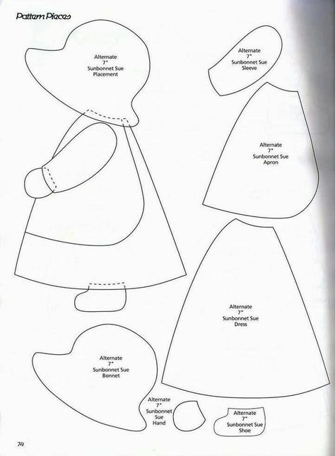 Classic Sunbonnet Sue and looks great to use for quilting or a crazy pillow. Classic Sunbonnet Sue and looks great to use for quilting or a crazy pillow. Free Applique Patterns, Applique Templates, Patchwork Patterns, Sewing Appliques, Machine Embroidery Applique, Quilt Block Patterns, Applique Quilts, Applique Designs, Quilting Designs