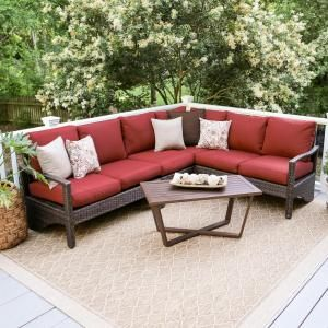 Hampton Bay Oak Cliff 3 Piece Steel Fully Cushioned Stamped Back