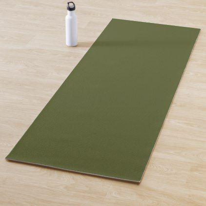 Army Green Solid Color Yoga Mat Zazzle Com Yoga Mats Best Yoga Mat Custom Yoga Mat