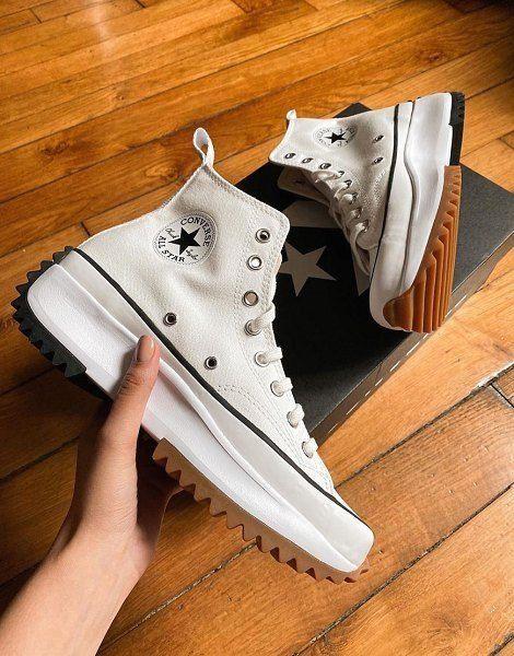 converse blancas run star