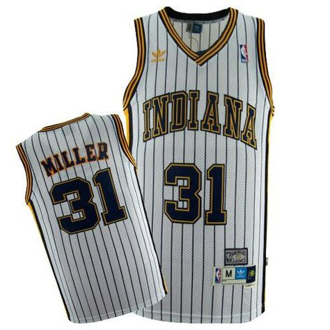 Navy Reggie Miller Jersey Adidas Throwback | Pacers Ebay Authentic ...