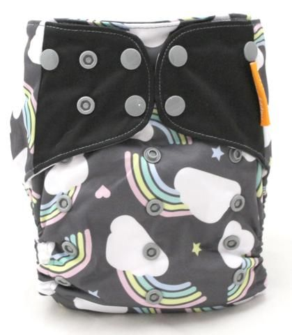 ALVA Bamboo Fitted Diaper Reusable Nappy Sewn-in 3layers Bamboo Insert For Night