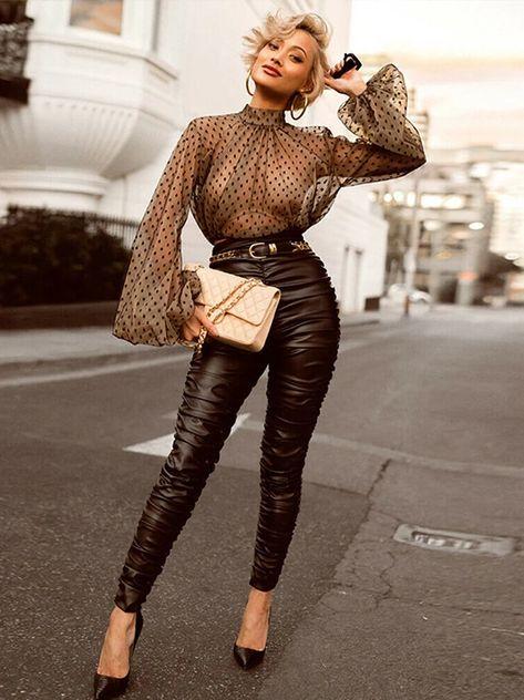 Women Mesh Sheer Blouse See-through Lantern Long Sleeve Blouse Fashio – Jartini blouses shirts style blouses designs blouses for women casual women tops shirt blouse#shirts#sweatheart#croptop#shirtdesigh#fashion