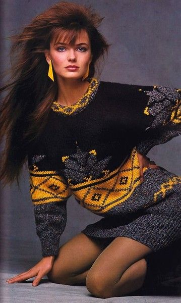 A big chunky sweater, pair it with leggings, Elle magazine, October