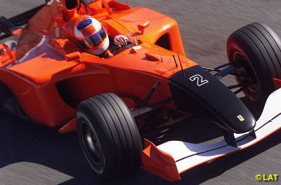 A Modern F1 Ferrari With No Logos On It At Monza In 2001 The Team Stripped Its Cars Of All Sponsors And Painted The Nose Bla Autosport Ferrari Grand Prix Cars