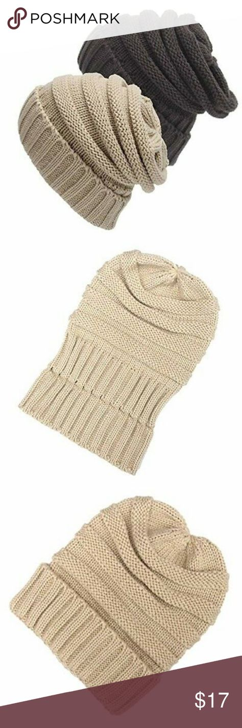 10341cfb894 Senker Women and Men Slouchy Beanie Cap Cable Hats Senker Warm Chunky Soft  Stretch Cable Knit