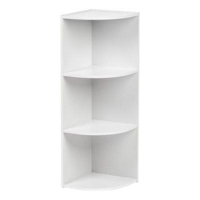 Iris 3 Tier Corner Storage Shelf White Corner Storage Shelves