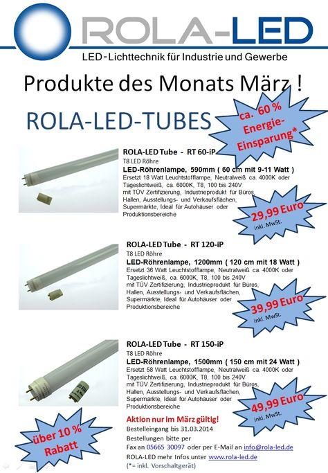 ROLA-LED Monatsaktion | ROLA-LED Unbedingt kaufen | Pinterest