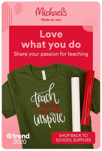 If you have a passion for teaching, tell the world with this DIY T-Shirt from Michaels. We've got all the back to school supplies you need, so you're ready for the first day back. Tap the Pin and see more.