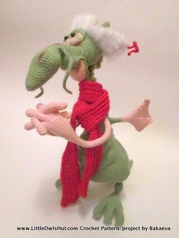 026 Dragon toy with wire frame - Amigurumi Crochet Pattern - PDF ...