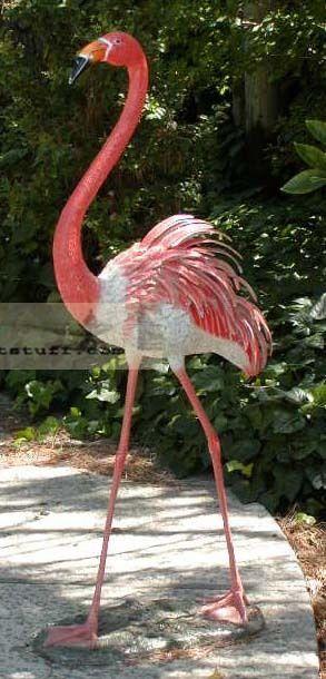 Huge 5 Feet Tall Life Size Bronze Garden Flamingo Yard Statue Art Flamingo Yard Art Yard Art Flamingo