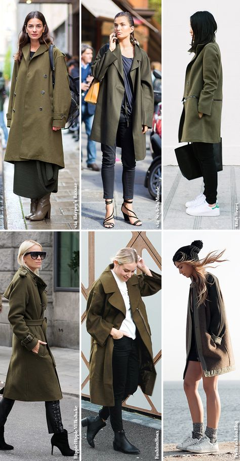 In Fashion | Olive Green Coats (Blue is in Fashion this Year