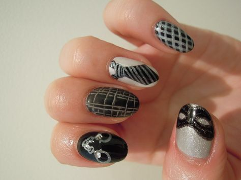 This Fifty Shades of Grey nail art will have you all hot and bothered!