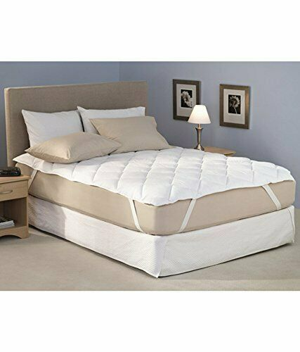 King Size 78x72inches 3 Layered Protector Bed Cover White Cotton Finish Quilte Unbranded Mattress Double Bed Mattress Bed Mattress