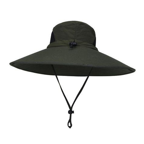 5b5c1cfad4dbc Men Plus Size Sunscreen Wide Brim UV Protection Fishing Hat at Banggood