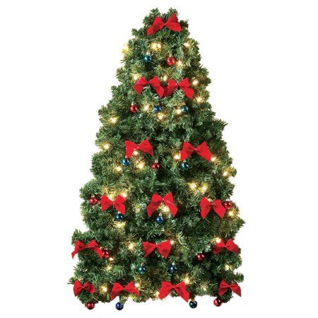 Collections Etc Lighted Christmas Wall Tree Walmart Com In 2020 Wall Christmas Tree Pre Lit Christmas Tree White Christmas Lights