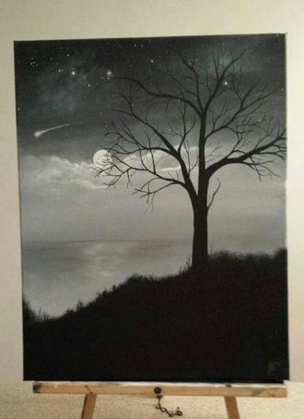Painting Ideas On Canvas Easy Black And White 51 Best Paintings