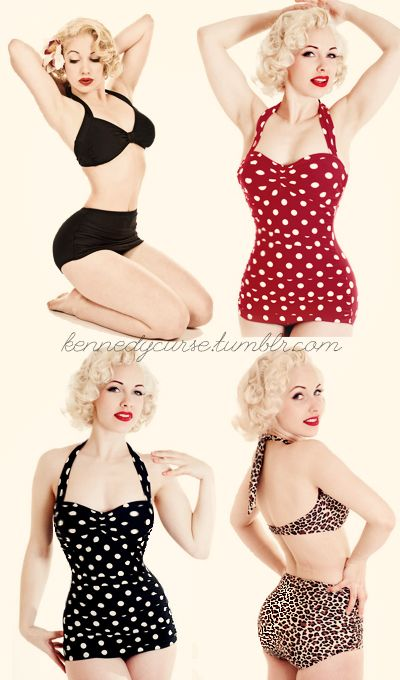 Spring Break Count down is on! These vintage swimsuits are perfect for some fun…
