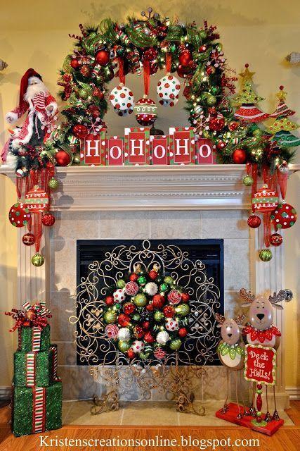 Whimsical Christmas Mantel 2013