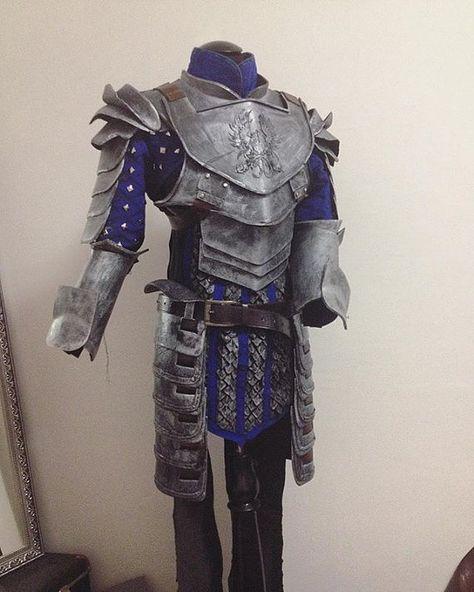 Grey Warden Heavy Warrior cosplay armor from Dragon age full set